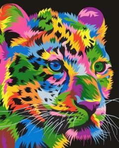 Картины по номерам Радужный гепард