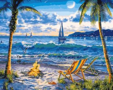 Картины по номерам Райский пляж