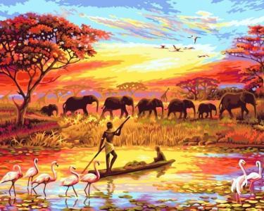 Картины по номерам Закат над Нилом