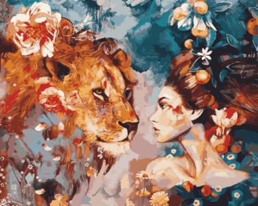 Картины по номерам Ее лев
