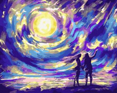 Картины по номерам Звездная ночь для влюбленных