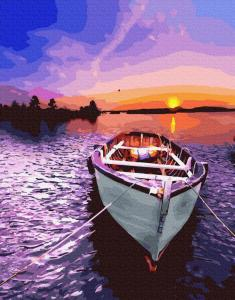 Картины по номерам Лодка на западе