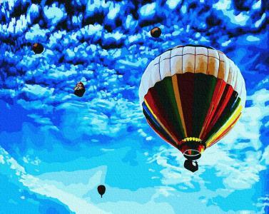 Картины по номерам Політ у волошкове небо