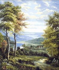 Картины по номерам Окраина деревни