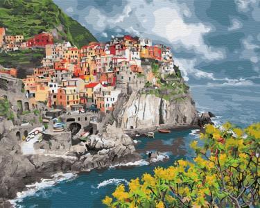 Картины по номерам Городок у моря