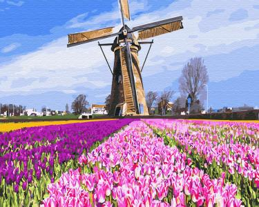 Картины по номерам Голландская мельницы
