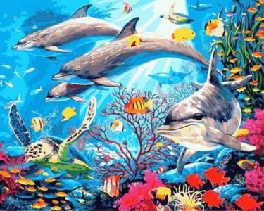 Картины по номерам Подводный мир
