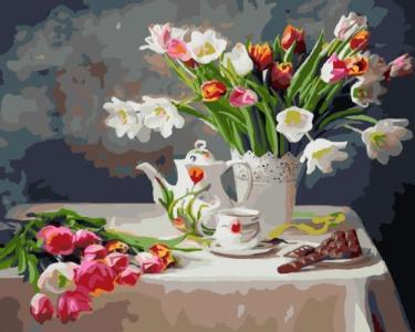Картины по номерам Весенний натюрморт