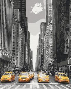 Картины по номерам Такси Нью-Йорка