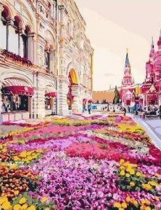 Картины по номерам Розовая клумба
