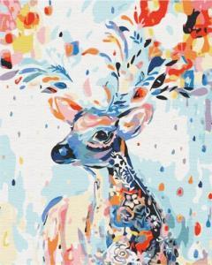 Картины по номерам Красочный олень