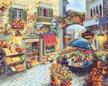 Картины по номерам Уютный дворик