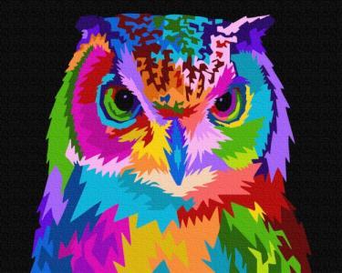 Картины по номерам Красочная сова