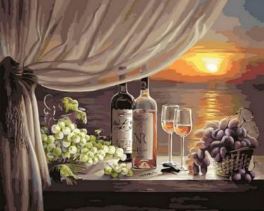 Картины по номерам Вино на закате