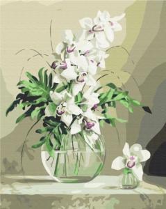 Картины по номерам Орхидеи в вазе