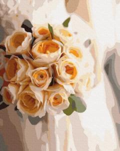 Картины по номерам Букет невесты