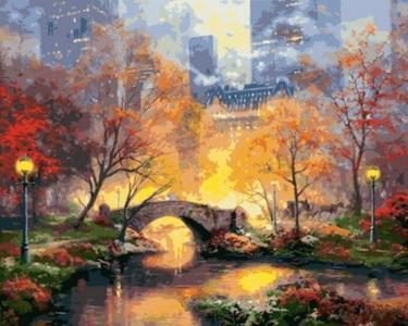 Картины по номерам Магия вечернего парка