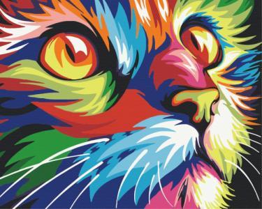 Картины по номерам Радужный кот