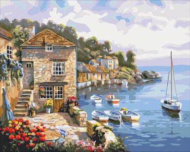 Картины по номерам Лодки в море