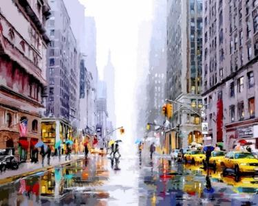 Картины по номерам Зима в Нью-Йорке