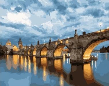 Картины по номерам Ночной мост