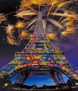 Картины по номерам Салют в Париже