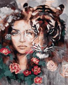 Картины по номерам Глаза тигра