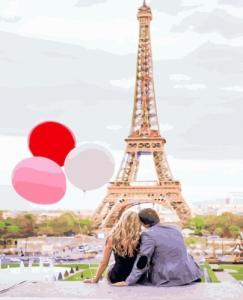 Картины по номерам Парижская любовь