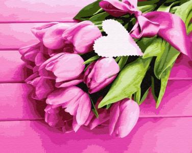 Картины по номерам Тюльпаны для любимой
