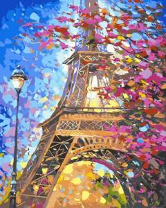 Картины по номерам Парижский пейзаж
