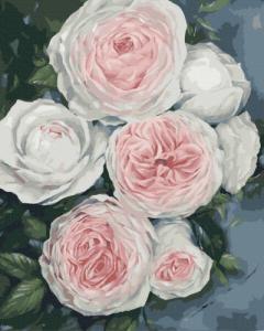 Картины по номерам Бутоны пышных роз