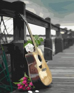 Картины по номерам Гитара романтика