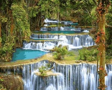 Картины по номерам Тропический водопад