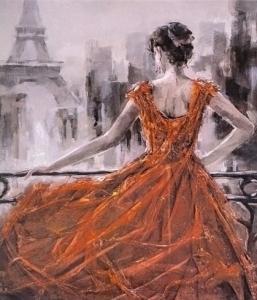 Картины по номерам Парижанка
