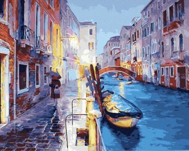 Картины по номерам Вечерний канал Венеции