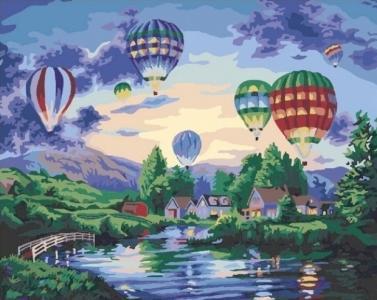 Картины по номерам Воздушные шары в сумерках