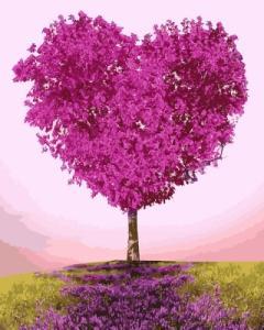 Картины по номерам Дерево-сердце