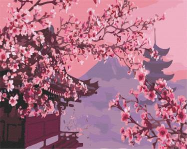 Картины по номерам Сакура в Японии