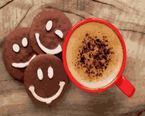 Картины по номерам Кофе с печеньем