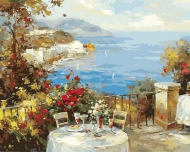 Картины по номерам Завтрак на терассе