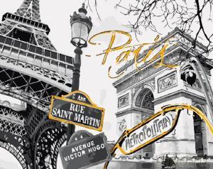 Картины по номерам Ретро Париж