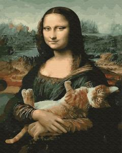 Картины по номерам Мона Лиза с котом