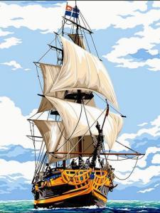 Картины по номерам Белоснежные паруса