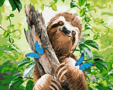 Картины по номерам Щасливий лінивець