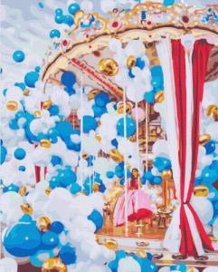 Картины по номерам Карусель в воздушных шариках