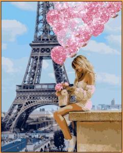 Картины по номерам Над Парижем