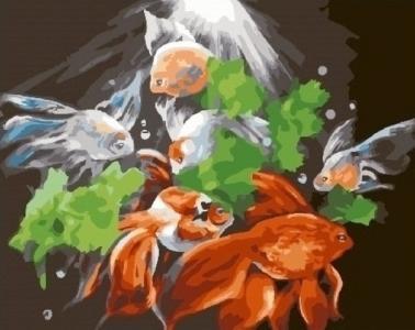 Картины по номерам Таинственные рыбы