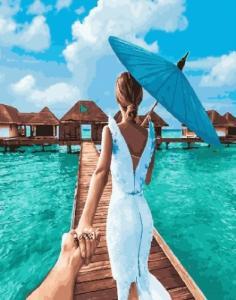 Картины по номерам Следуй за мной Мальдивы