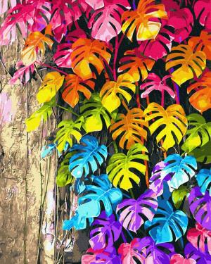 Картины по номерам Кольорове листя