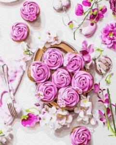 Картины по номерам Розовые безе